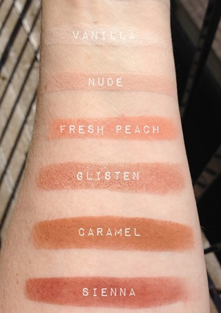 Anastasia Beverly Hills Maya Mia Swatches with names