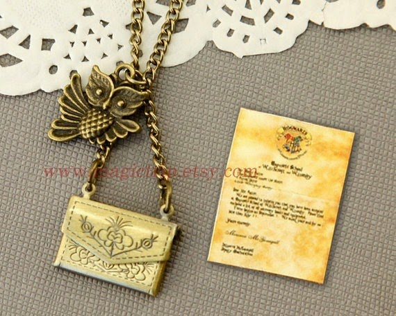 Harry Potter Owl Post Hogwarts Acceptance Letter Pendant Necklace from Magic Trip