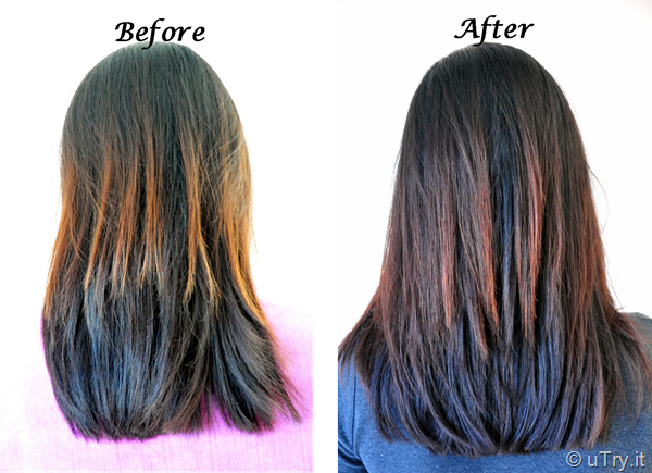 Before and After  Homemade Hot Oil Hair Treatment   http://utry.it