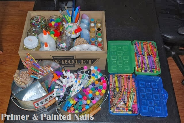 Art Supplies Organized 2 - Primer & Painted Nails