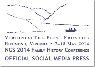 The Ancestry Insider is a member of the Official Social Media Press for NGS 2014