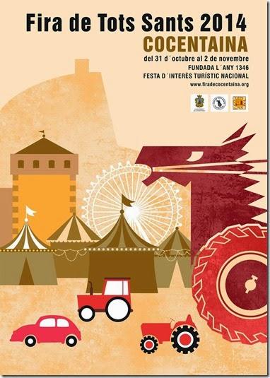 Cartell de la FIRA DE TOTS SANTS 2014 (Del 31 d´Octubre al 2 de Novembre, COCENTAINA)