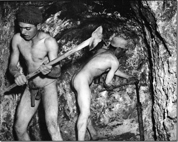 Italia, 1947, Solfatara in Sicilia (foto F.Patellani)