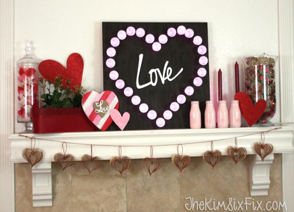 Love heart mantel