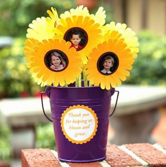 silhouette flower teacher gift