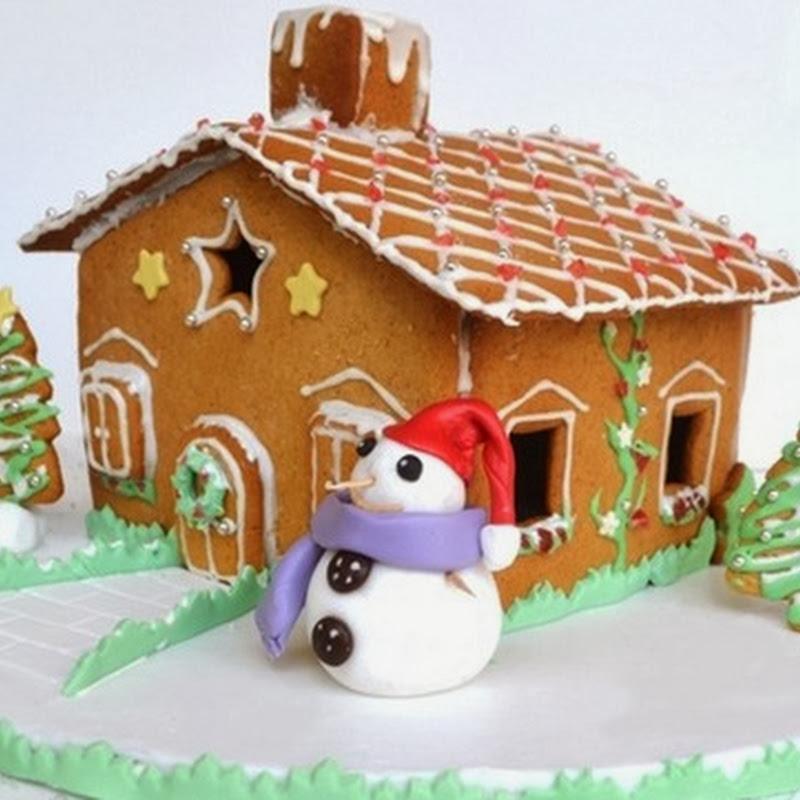 Χριστουγεννιάτικο σπιτάκι με μελόψωμο