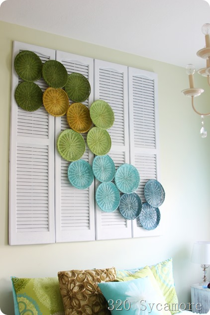 above bed design using shutters   paper plate holders