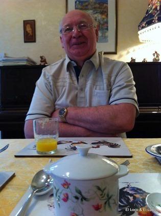 John Rust at breakfast