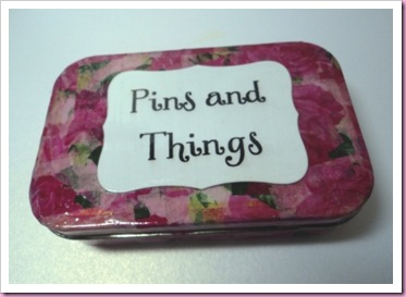 Pins And things Decopatch box