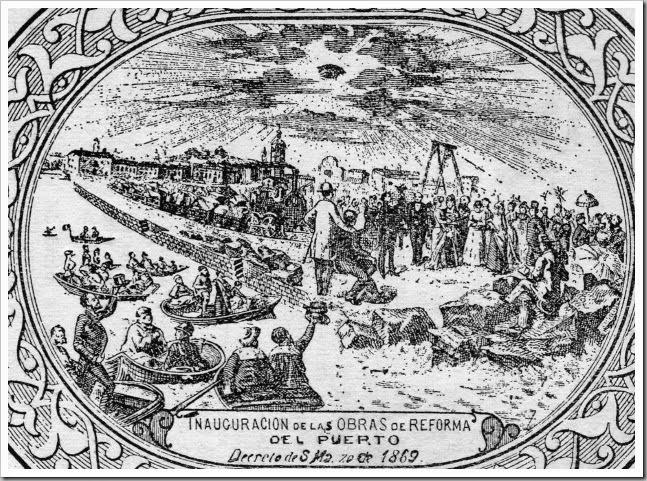 inaguracion obras puerto 1869