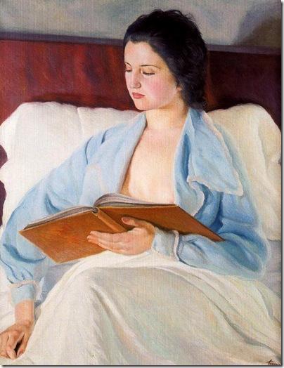 Josep de Togores i Llach -Lectura en la cama_ 1935