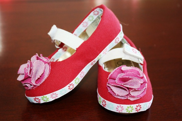 fabric covered shoes tutorial