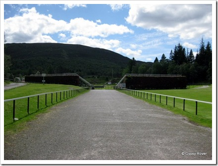 The Princess Royal and Duke of Fife memorial park, Braemar. The venue for the Braemar Highland Games.
