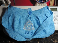 Custom Embroidered Triquetra Purse