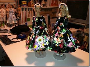 Grace Kelly Black Print Dress 4