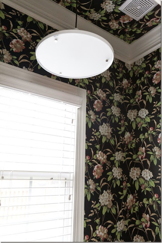 makeover with wallpaper diy