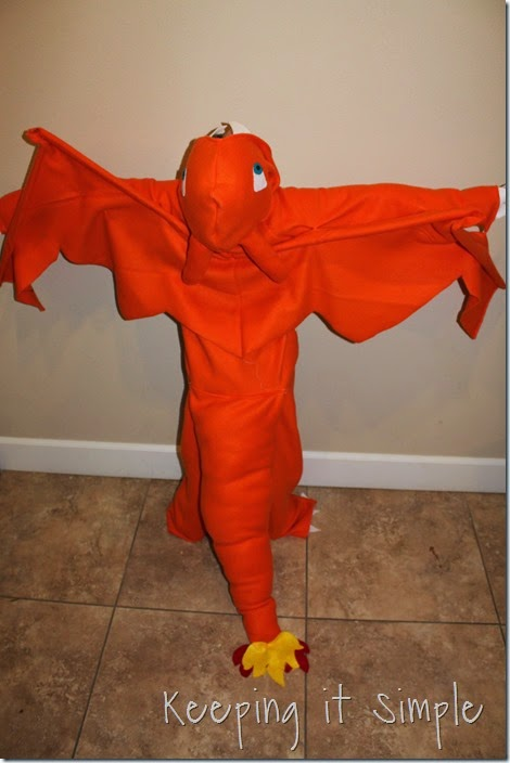 DIY Pokemon Charizard Costume (8)