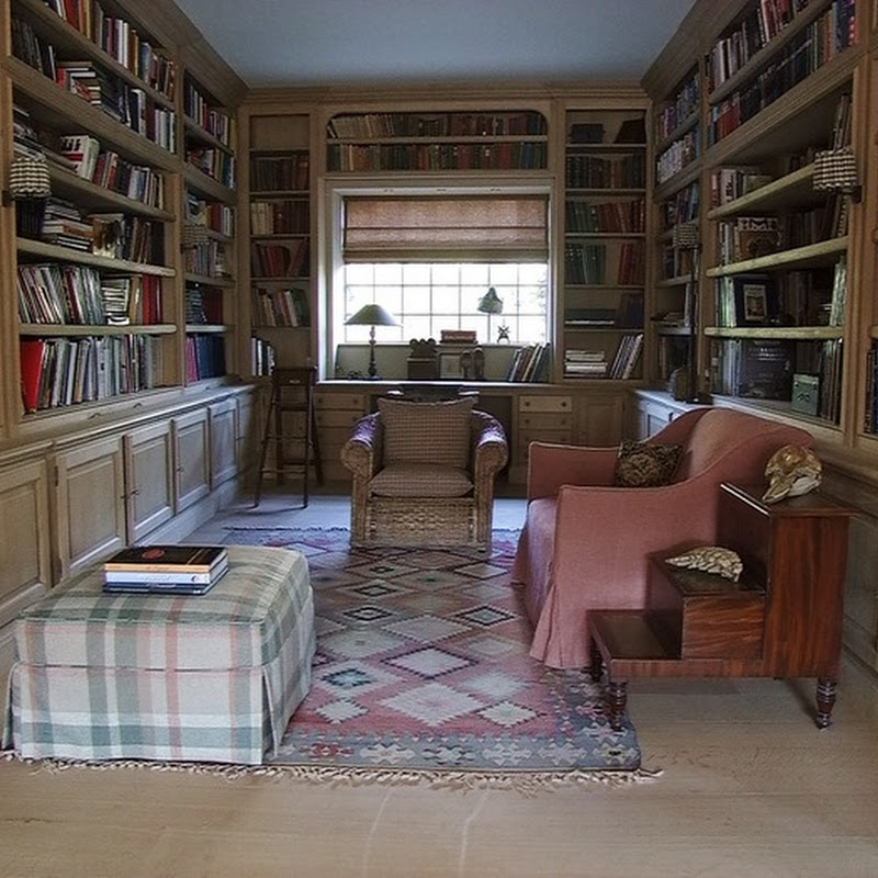 French oak library