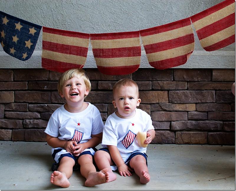 boys with flag