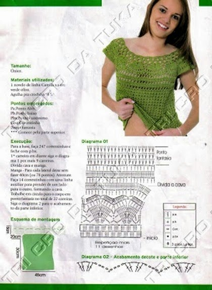 blusa verde con canesu pat