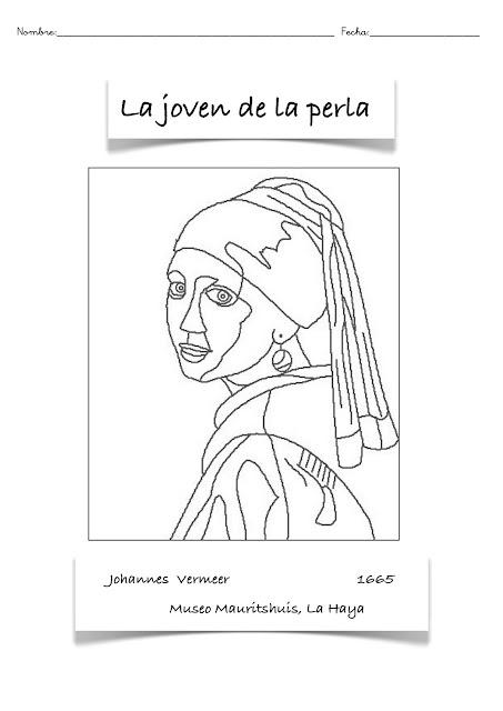 Dibujos para imprimir y colorear: COLOREAR CUADRO FAMOSO