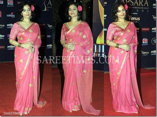 Divya_Dutta_Pink_Saree
