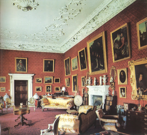 What an impressive collection of family portraits in the Newbridge estate as well as elaborate Rococo plasterwork.