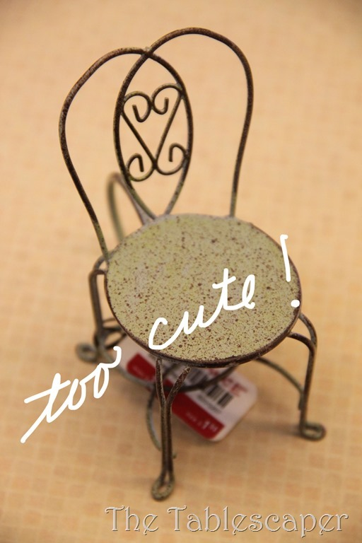 napkin ring chair with words copy