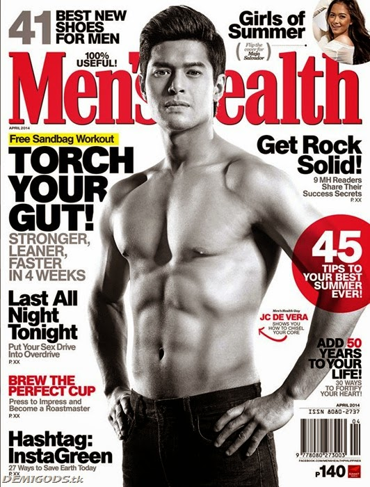 JC de Vera Men's Health Philippines cover