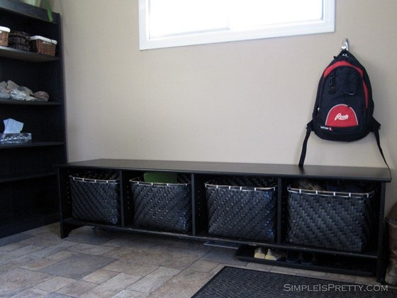 simpleispretty.com: Porch / Entrance Storage Unit IKEA