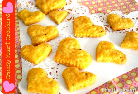 Cheesy Heart Crackers