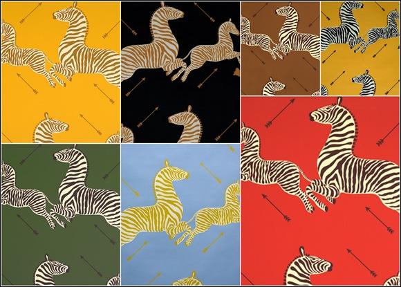 Scalamandre Zebra Wallpaper Colorways