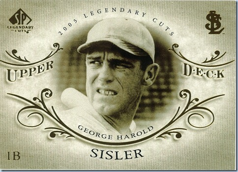 2005 SP Legendary Cuts Sisler