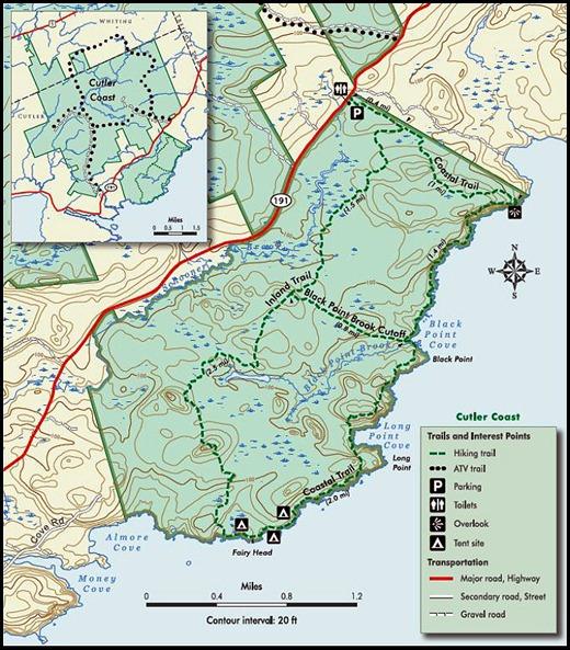 12 - Cutler Hike Map