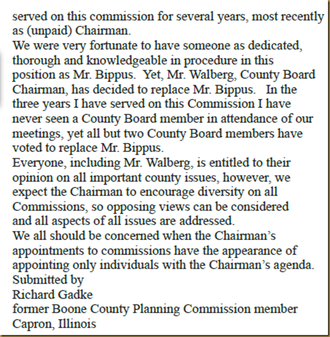 boone county watchdog bcj letter to editor on mr walberg s