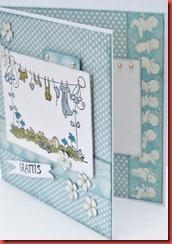 Blått baby kort (1)