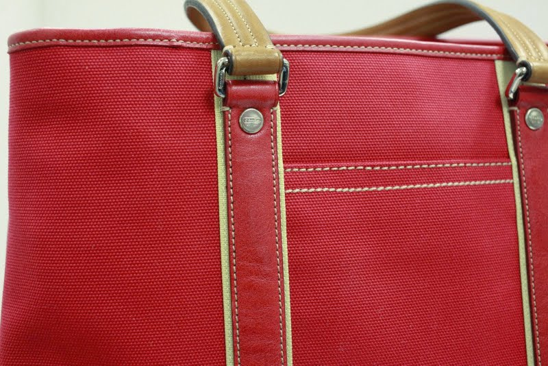 Red Coach Tote bag