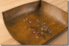tray antique brown