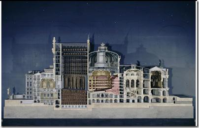 Paris opera house model