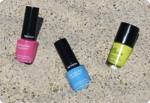 Summer Beauty Essentials - Nail Polish - Australis Acid Rain - Revlon Coastal Surf and Passionate Pink (2)