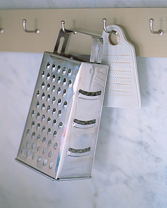 Use your walls as storage space. Install hooks and items like graters can find a permanent home.