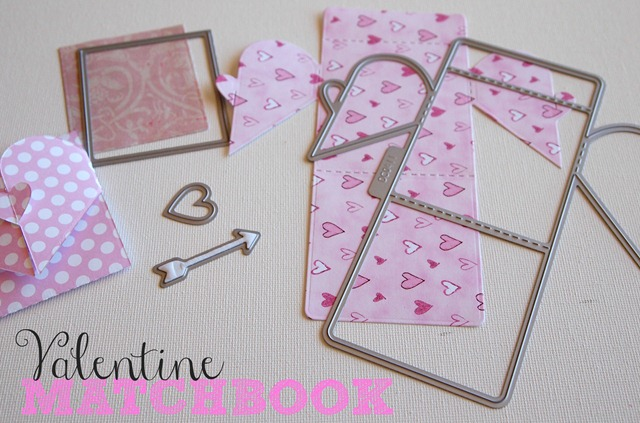 valentine matchbook die