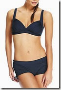 Navy Ruched Plunge Bikini
