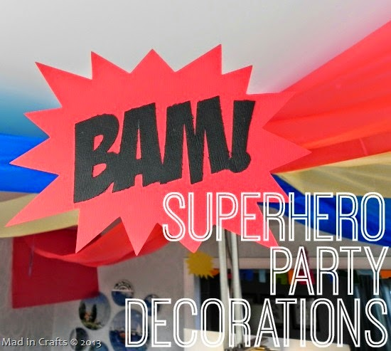 Superhero Party Decorations