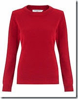 John Lewis Red Cashmere Crew Neck Jumper