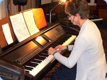 Denise Gunson playing the Clavinova