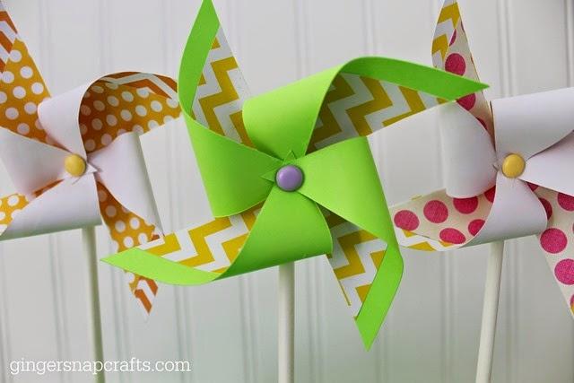 paper pinwheels #gingersnapcrafts