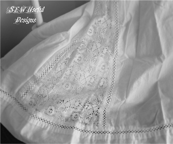 Hanky and linen lacy skirt retouch