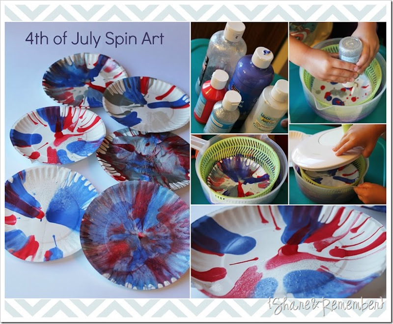 4th of July Spin Art Craft