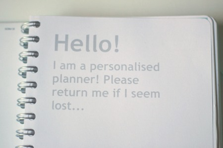 Customised Personal Planner (2)